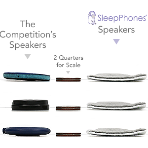 SleepPhones speakers