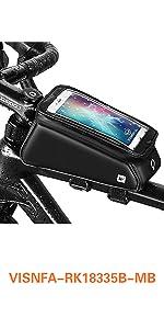 visnfa Bike Phone Mount Bag Bicycle Waterproof Front Frame Top Tube Handlebar Bag