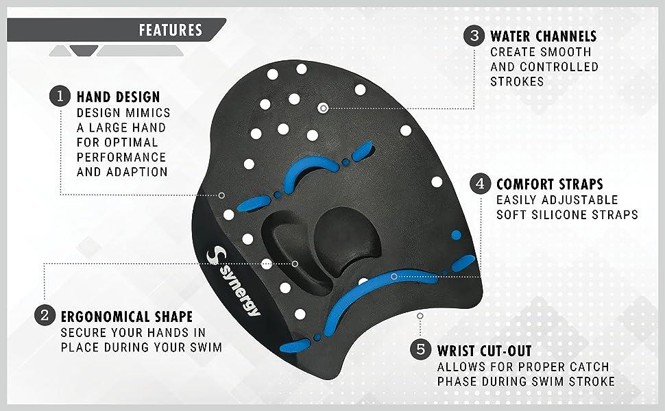 Romote Silikon-Hand Vernetzter Schwimmen Paddles Stroke Professionelle Hand Paddel Wassersport Schwimmtraining Zubeh/ör 2st