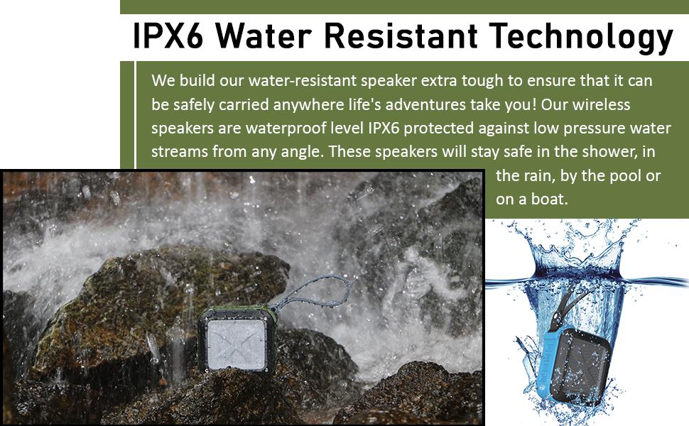 AYL SoundFit Bluetooth Speakers Waterproof level IPX6