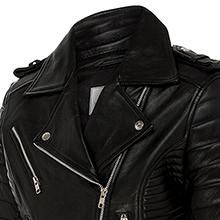 Leatherholics Womens Genuine Leather Quilted Moto Jacket