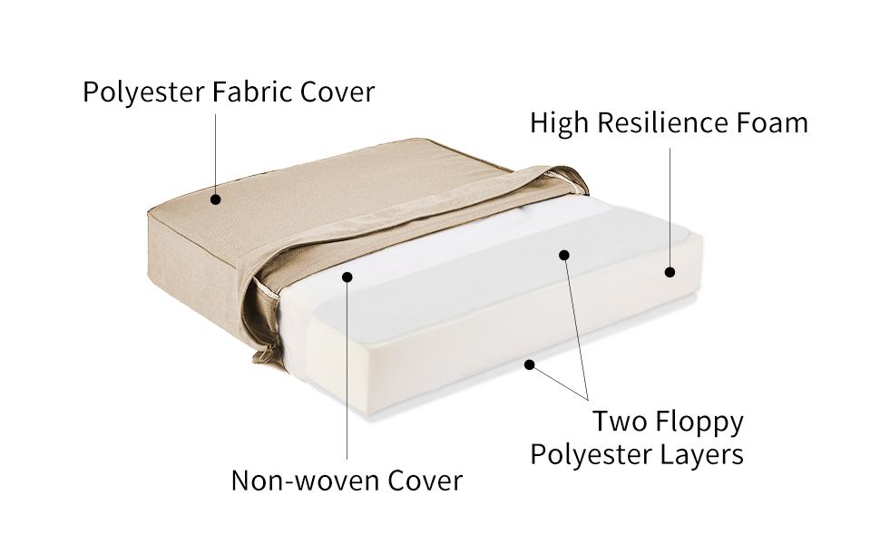 deep seat cushion structure