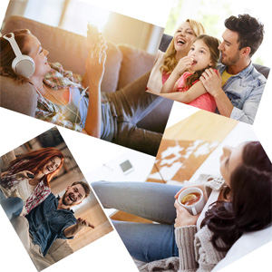 enjoy the recliner sofa with your family