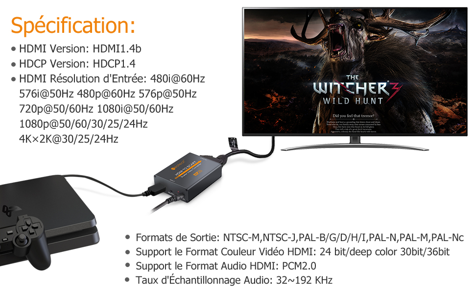 Convertisseur HDMI vers Péritel Specification