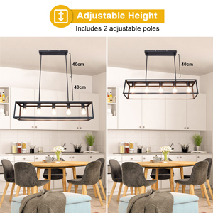5 Lights Farmhouse Linear Light Fixture Chandelier