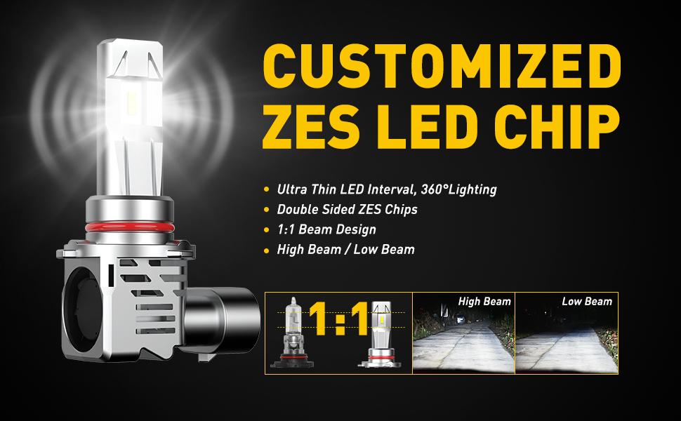 HB3 LED headlight bulb