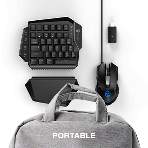 Portable Keyboard and Mouse Suit