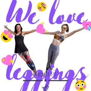 Whimsy Fit Leggings workout wear sports bra racerback tank top activewear yoga running slimming soft