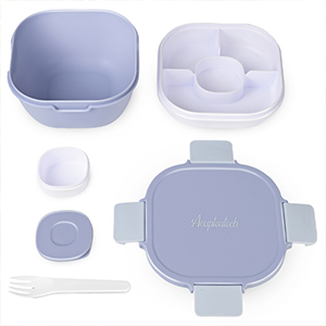 salad bowl with lid blue