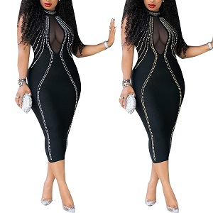 PORRCEY Women's Sexy Bodycon Party Club Night Out Dress