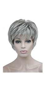 Short Layered Body Wave Wigs Synthetic Women's Wig Full Hair