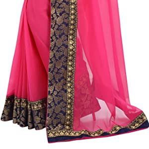 Chiffon saree with border
