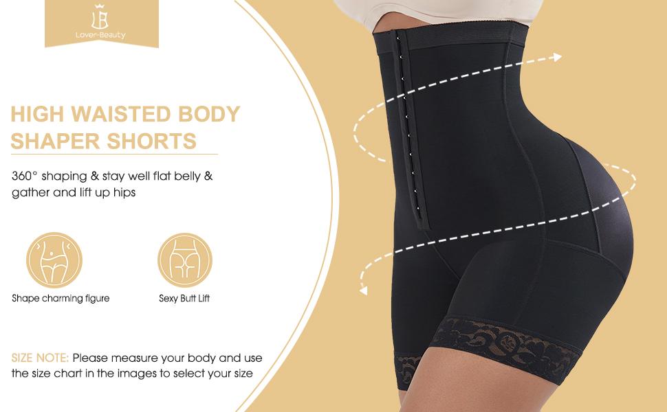 high waist body shaper shorts
