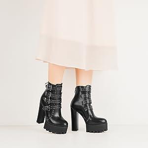 MissHeel Ankle Boots Kurzschaft Stiefel