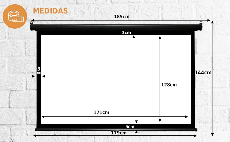 pantalla mural de 84 pulgadas, pantalla manual, pantalla para proyector, tela de proyeccion barata