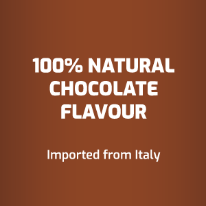 100% natural chocolate flavor