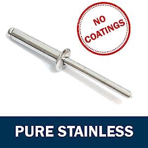 3//8-1//2 Grip Range 25pc All 18-8 Stainless Steel 3//16 Diameter #68 Stainless Rivets
