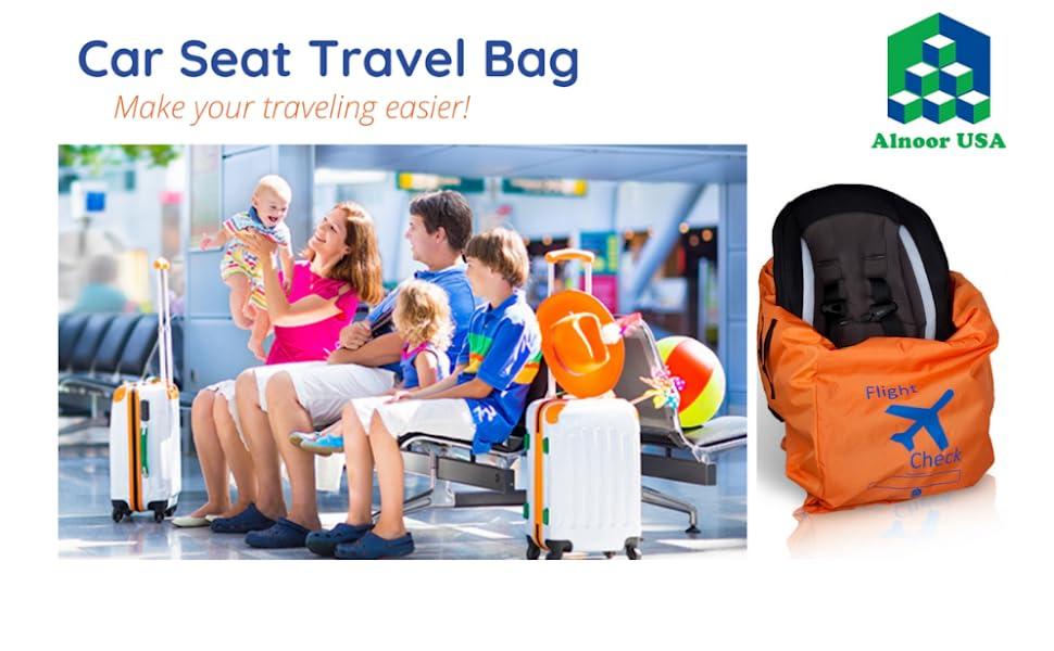 car seat travel bag, car seat travel bag with wheels