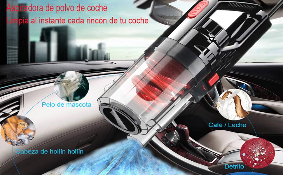 IMMEK Aspirador de Coche 7500PA, Versión Mejorada Aspiradora de ...