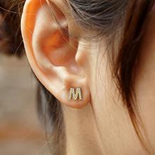 m earrings for women