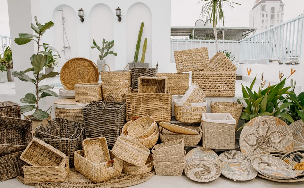 Wicker Storage Cubes