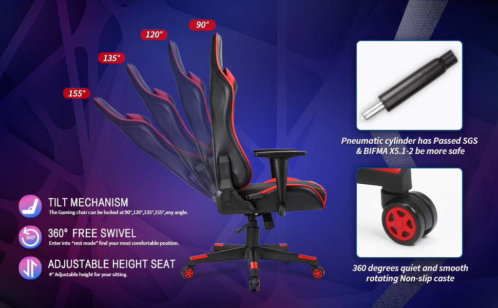 The Gaming Chair tilt function