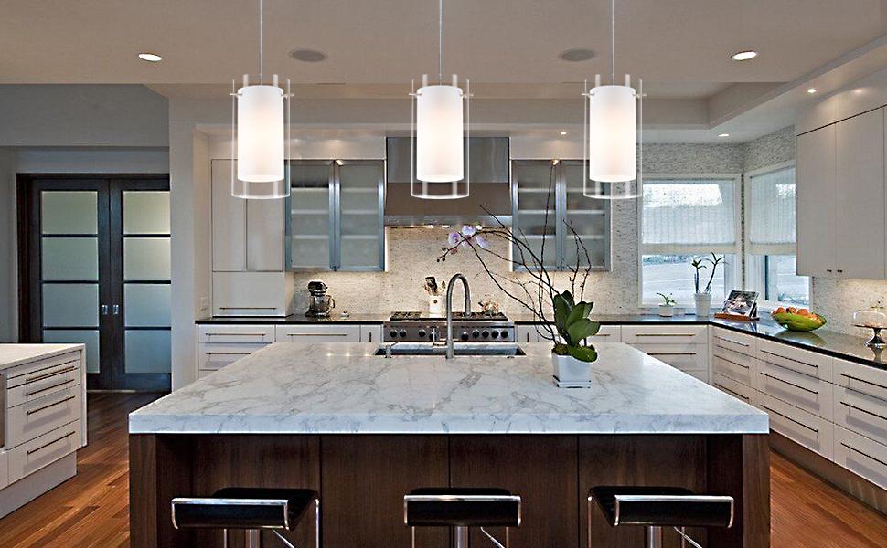 Mini glass pendant lighting for kitchen Island
