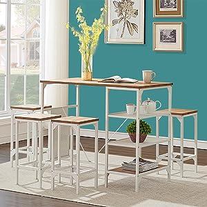 kitchen table set pub height table set