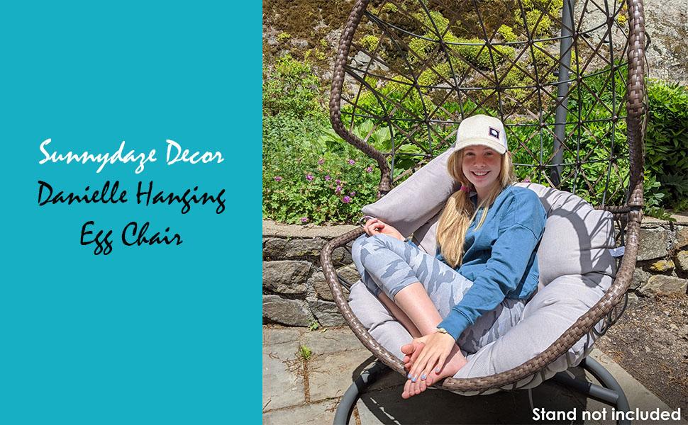 Danielle Hanging Egg Chair - Resin Wicker