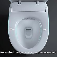 Humanized design provides maximum comfort