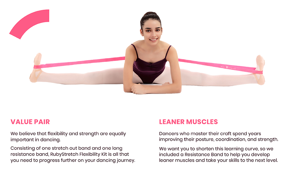 ballet stretch band for dance gymnastics cheerleading turnboard disc