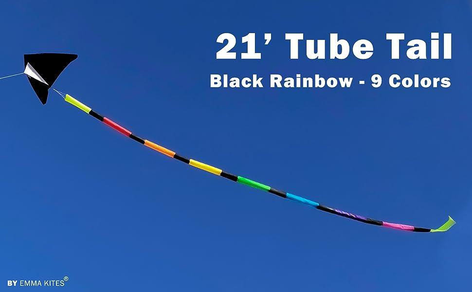 rainbow kite tube tail