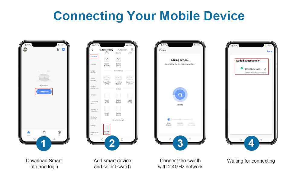 tessan 3 way wifi smart dimmer switch