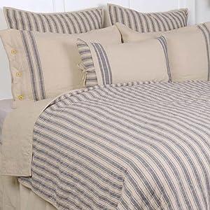 Market Place Blue Grain Sack Pillow