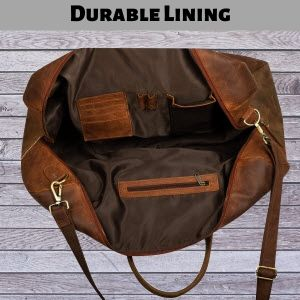 Duffle Bag Buffalo Leather Travel Luggage Gym Sports Vacation Holiday Gift for Men, Women