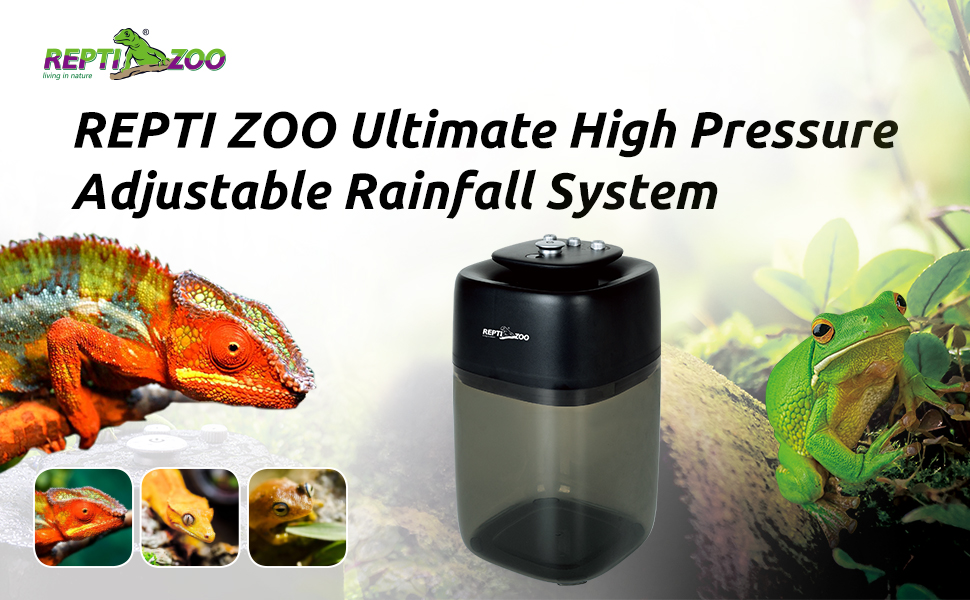 REPTI ZOO Ultimate High Pressure Adjustable Rainfall System