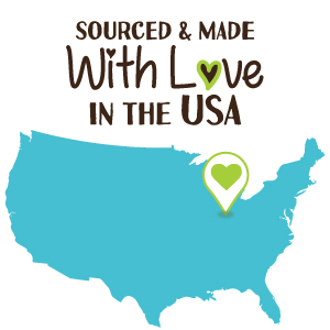 sourced & made with love in the usa