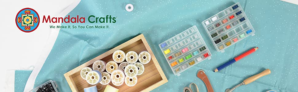 Pre-threaded Sewing Thread Bobbin Set for Sewing Machine Serger Embroidery