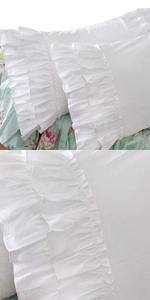 ruffle pillow shams