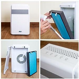 HEPA premium pour purificateur ALPS/_PA/_M1 Filtre combin/é Pr/é-filtre Charbon actif Filtre pour Purificateur dair Alps Technologies