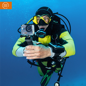 Rugged and waterproof case(up to 40 meters)