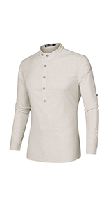 Roll Up Sleeves Henley Shirt