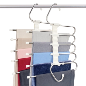 The picture of 2 pack space saving pants hangers