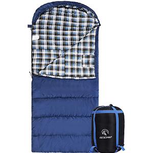 Redcamp Schlafsack Baumwolle Für Erwachsene Deckenschlafsack Flanell Innenfutter Für Outdoor Camping Winter Umschlag Mit Kompression Sack 3lbs Amazon De Sport Freizeit