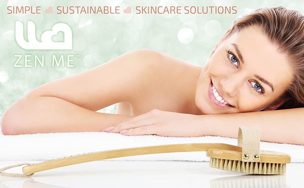 sustainable skincare tools all natural chemical free plastic free dry body brush