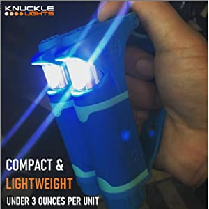 Knuckle Lights for hiking camping dog walking and more