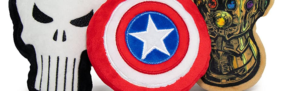 Marvel Comics Plush Dog Toys by Buckle-Down