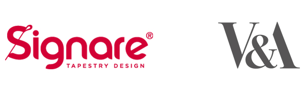 Signare Tapestry and V&A Logo