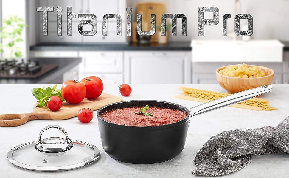 titanium pro nonstick sauce pan