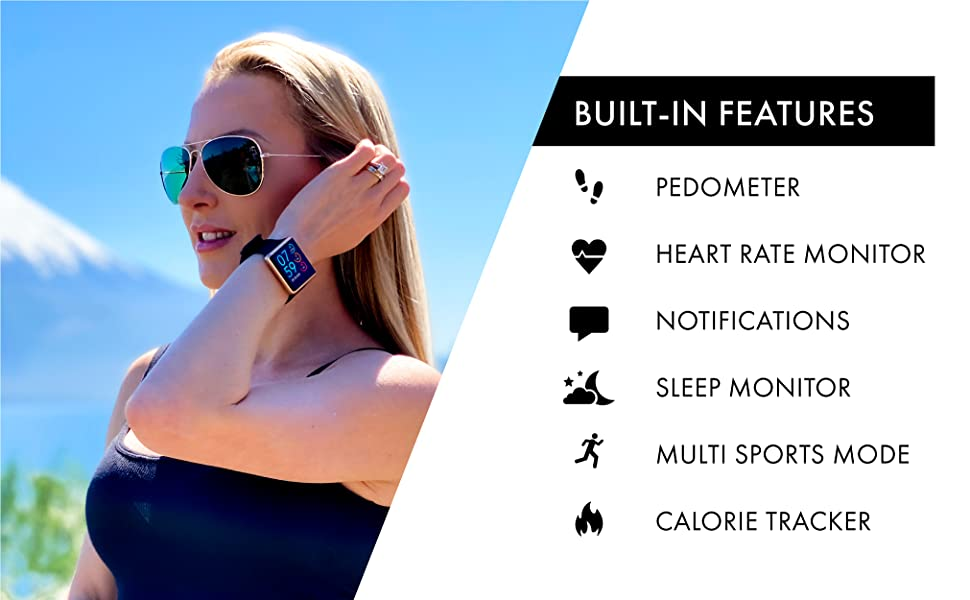 sport watch, itouch wearables, heart rate, calories burned